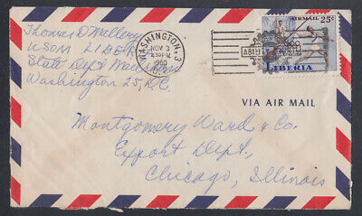 Liberia # C126 Diplomatic Pouch Mail to Washington DC Olympics Sports