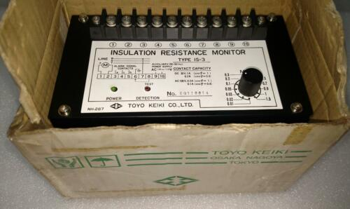 Toyo Keiki Is-3 Insulation Resistance Monitor Ac 100-115v