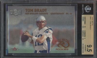 2000 Fleer Metal #267 Tom Brady RC Rookie Gem Mint BGS 9.5