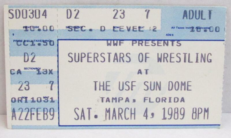 Superstars Of Wrestling At The USF Sun Dome Concert Ticket ~156