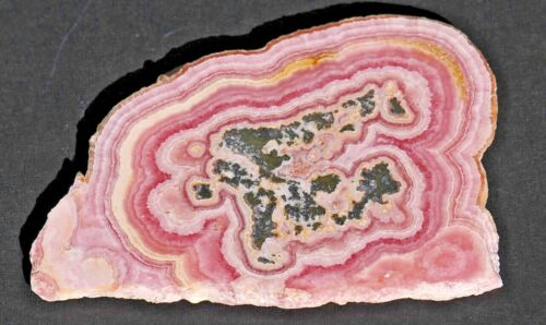 Rhodochrosite slice in a Floating Frame from the Capillitas Mine, Argentina