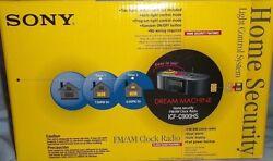 Sony ICF-C900HS Dream Machine AM/FM Clock Radio Security Light Control System