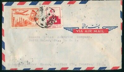 MayfairStamps Middle East to North Wales Pennsylvania Air Mail Cover wwo30427
