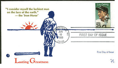 2417 LOU GEHRIG FDC WITH