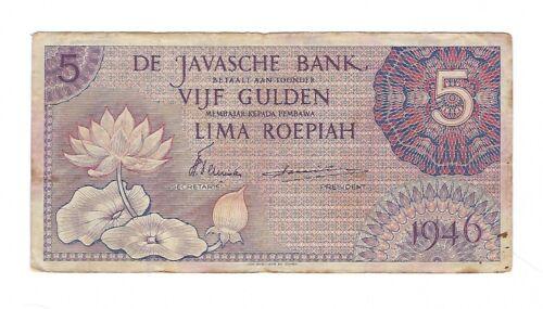 Indonesia - 1946, Five (5) Rupiah