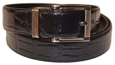 New Mens Black Alligator Print Genuine Leather Classic 30mm Nice Fashion Belt Alligator Print Leather Belt