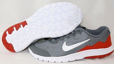 Boys Kids Youth Nike Flex Experience 4 749807 081 Grey Orange Sneakers -