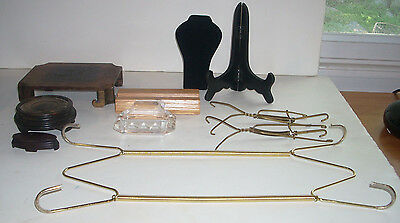 Lot Of Ten Jewelry Collectibles Display Stands Plate Hangers More