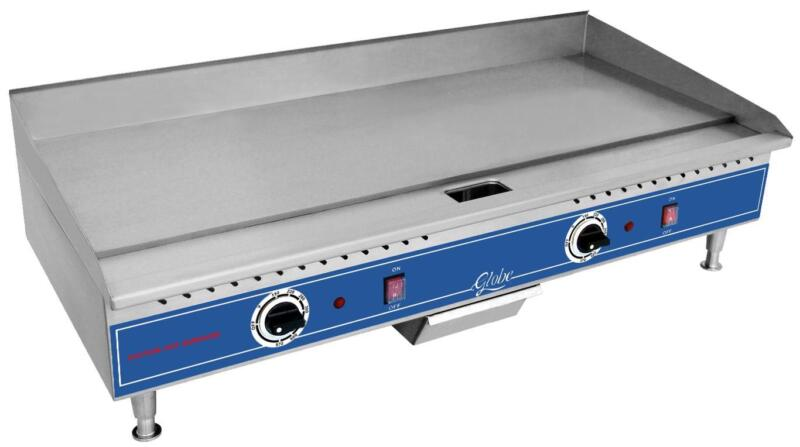 Globe Pg36e 36in Light Duty Counter Top Electric Flat Griddle