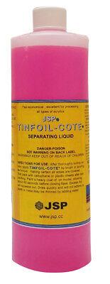 Jsp Tin Foil-cote Separating Liquid 16oz 473m Tin Foil Substitute Lde115