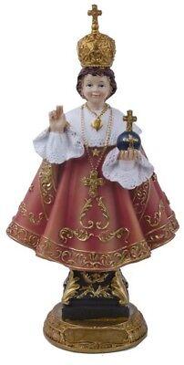 Statue du Petit Jésus Christ de Prague résine colorée H 20 CM cadeau communion