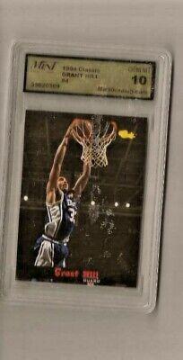 1994 Classic Basketball Card Grant Hill Gem Mint 10 Duke Blue - Duke Blue Devils Classic Basketball