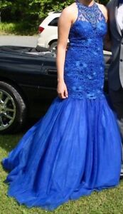 Alyce of Paris Sapphire Blue Size 4 Prom Gown