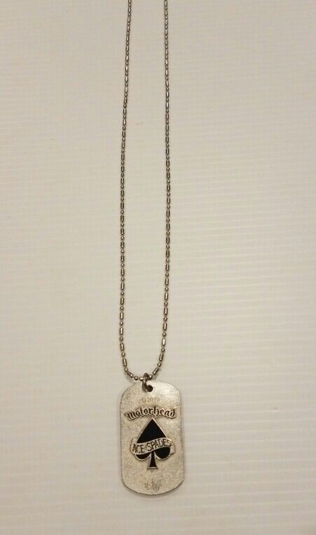 Motorhead 2010 concert Dogtag With Chain.very collectible