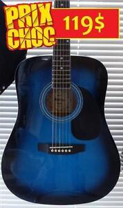 MÉGA SPÉCIAL Guitare acoustique NEUVE 41 pouces pleine grandeur spruce top (UPDATE il en reste 3)