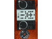 Dj controller with integrated audio interface and air control