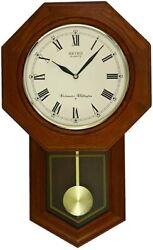 *BRAND NEW* Seiko Dark Wooden Quartz Westminster Chime Wall Clock QXH102B