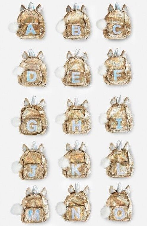 ... CHOOSE LETTER-NWT JUSTICE Gold Unicorn Flip Sequin MINI Preschool Age  Backpack фото ... 2e2535707fb03