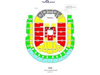 WWE RAW TICKETS 2 OR 4 AWESOME RINGSIDE SEATS C2 row G O2 ARENA MON 8TH MAY £375 A PAIR