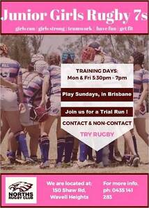 Junior Girls Rugby 7s Wavell Heights Brisbane North East Preview