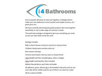 Low Cost Bathroom Package Deal - everything you need from start to finish. Supplied and fitted
