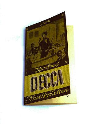 k104 Schallplatten Parade Decca Platten Nummern Katalog Klassik Nr 2