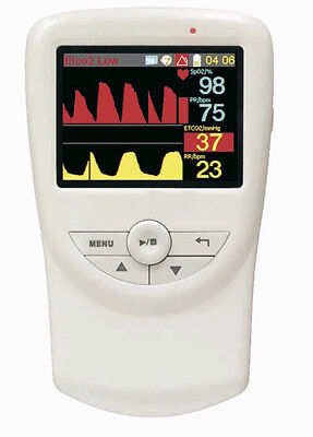 Handheld Veterinary Co2 And Respiratory Monitor With Accessories 2.8 Lcd