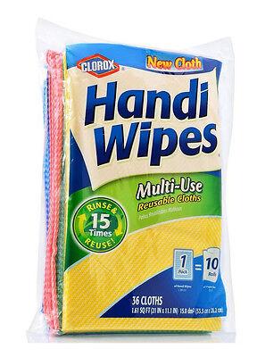Clorox Handi Wipes Multi-Use Reusable Cloths, 36 Cloths clean, wipe, scrub, dust
