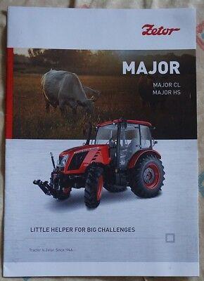 2017 2018 Zetor Major CL 60 80 HS 80 Series Tractor Brochure na sprzedaż  Wysyłka do Poland