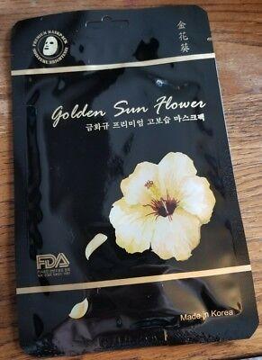 NEW! Kina Cosmetics Korean Cosmetics Golden Sun Flower Premium Sheet Mask