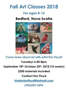 Fall Art Classes for Kids and Teens