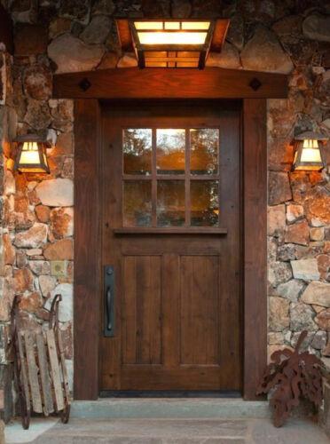 Sundance Craftsman Style Knotty Alder Entry Door