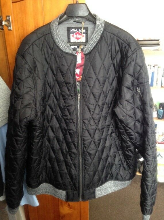 Lee Cooper Quilted Navy Bomber Jacket Coat Mens XXL  25ca7606c1