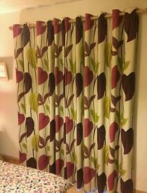 Heavy weight , lined, eyelet curtains