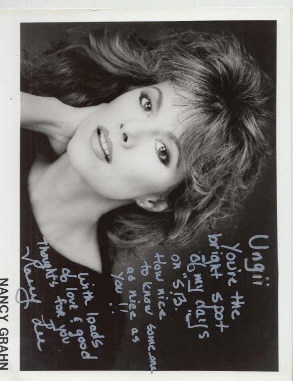 Nancy Grahn Autographed 8 x 10  Promotional Photo
