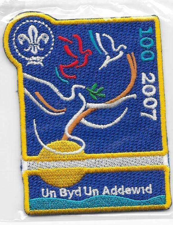 2007 Un Addewid One Promise Patch 21st World Boy Scout Jamboree United Kingdom