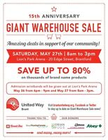 Brant United Way's Giant Warehouse Sale