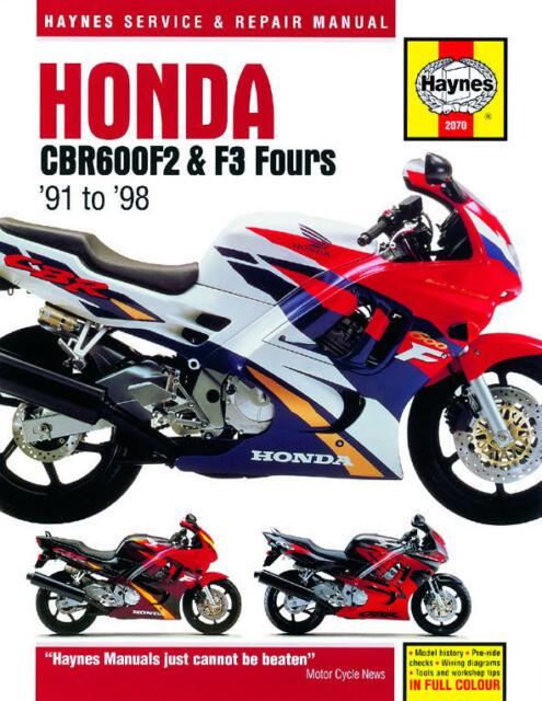 HAYNES 2070 MOTORCYCLE SERVICE REPAIR MANUAL HONDA CBR600 F2 F3 FOURS 91 - 98
