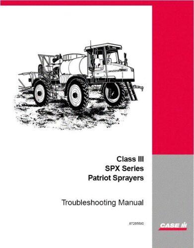 Case-IH SPX-Series Patriot Sprayer troubleshooting manual #87265690