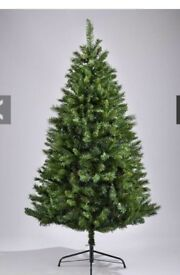 NEW and BOXED 7ft Green Regal Fir Christmas Tree With Metal Stand