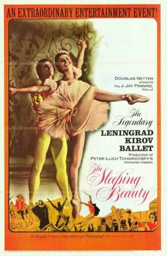 KIROV BALLET original 1964 movie poster THE SLEEPING BEAUTY one sheet 27x41
