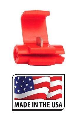 500 Scotch Locks Quick Splice Electrical Terminals Red 22-16 Made In Usa