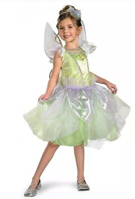 Tinkerbell Costume 4t (Girls Todder DISNEY TINKERBELL FAIRY Halloween Costume Wings Size 3T-4T)