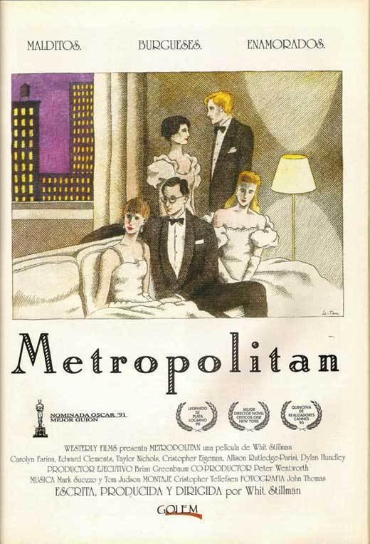 METROPOLITAN Movie POSTER 11x17 Spanish Carolyn Farina Edward Clements Chris