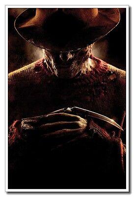 "A Nightmare on Elm Street Horror Freddy Krueger 24""x16"" Silk Poster Wall Decals"