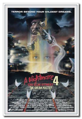 "A Nightmare on Elm Street 4 Freddy 12""x8"" Horror Movie Silk Poster Door Decal"