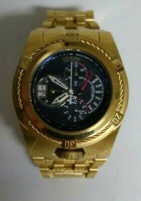 Invicta Reserve Bolt Zeus Tria 16956 Swiss Movement 18K Gold Plated Large Watch