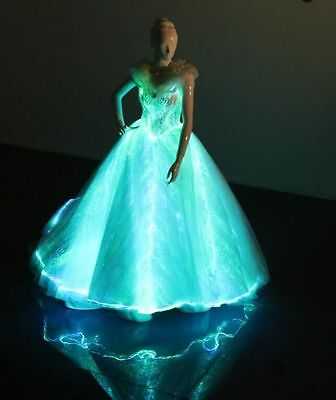 Fiber Optic Light Up Elegant Princess Glowing Maxi Dress LED Bridal Wedding Gown