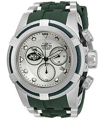 Invicta NFL NY Jets 53 mm Bolt Zeus Chronograph Swiss Movement Watch. # 30245.