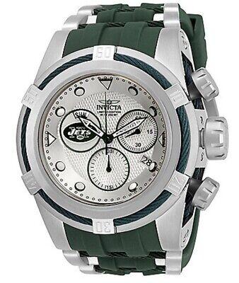 Invicta NFL NY Jets 53 mm Bolt Zeus Chronograph Swiss Movement Watch. # 30245.